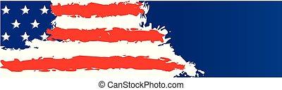 stany zjednoczona bandera, szablon, ameryka, chorągiew