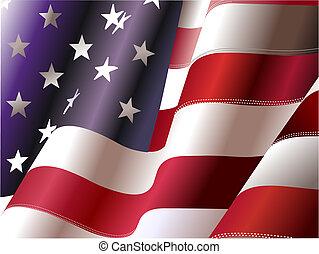 stany, zjednoczony, –, afisz, projektanci, niezależność, 4...