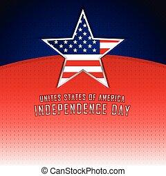 stany, zjednoczony, dzień, ameryka, niezależność