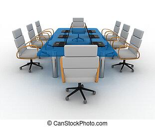 stanza conferenza, 3d