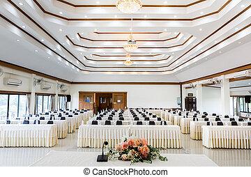 stanza conferenza, affari