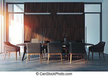 stanza conferenza, moderno, rendering., luminoso, interior., 3d