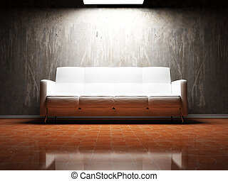 stanza, interno, vivente, disegno, moderno