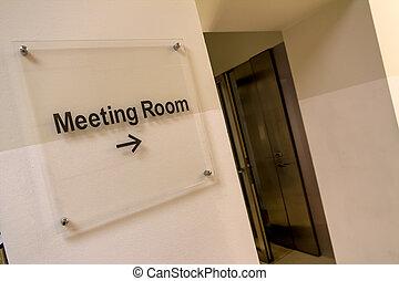 stanza riunione, segno