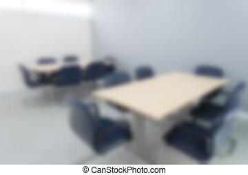 stanza, riunione, sfocato