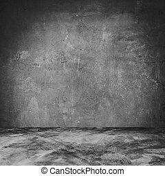 stanza, space., cemento, concreto, struttura, fondo, vuoto