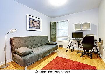 stanza, ufficio, divano