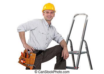 stap-ladder, handyman