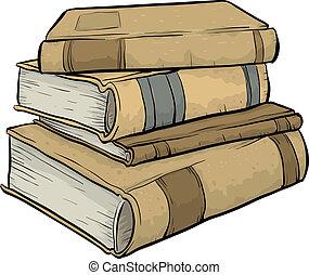 stapel, boekjes , oud