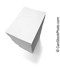 stapel, documenten, zakenkantoor, papieren