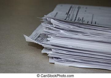 stapel, papieren