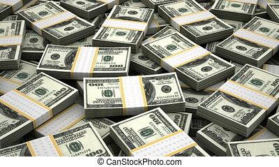 stapel, van, amerikaanse dollar