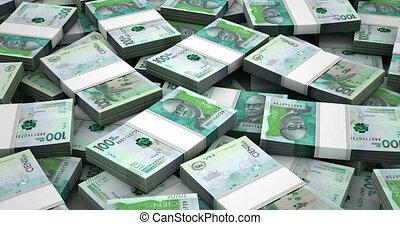 stapel, van, colombiaan, pesos