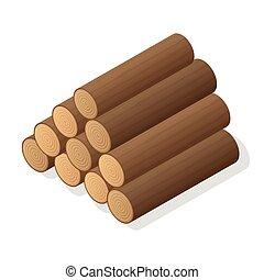 stapel, van, firewood.