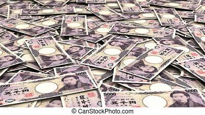stapel, van, japanse yen