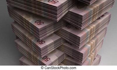stapel, van, mexicaanse peso's