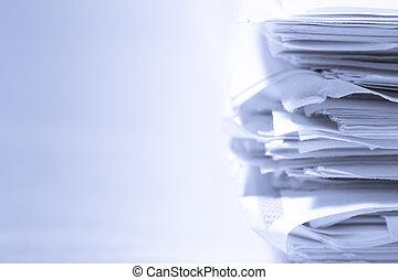stapel, van, papieren