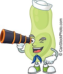Staphylococcus pneumoniae in Sailor cartoon character style ...