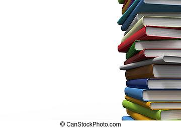 stapla av böcker