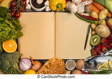 Staple Foods - Recipe Book - Space for Text - Staple foods -...