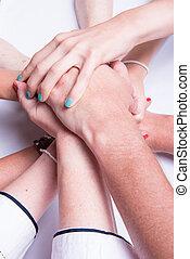 staple of hands