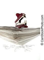 Staple Puller - Stapel puller on a sheaf of paper.