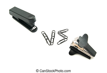 staple remover and stapler