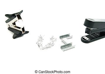 stapler and black staple remover