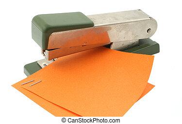 stapler at work on w