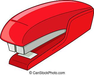 Stapler - Vector red stapler