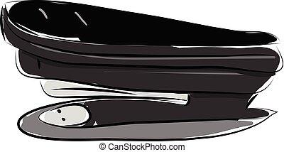 Stapler hand drawn design, illustration, vector on white background.
