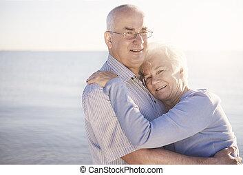 starší, láska, dvojice, bezkoncovkový