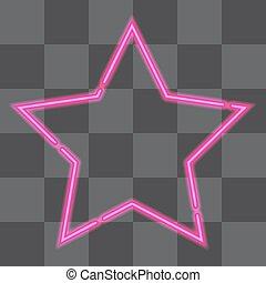 star., ネオン, レトロ, 照ること