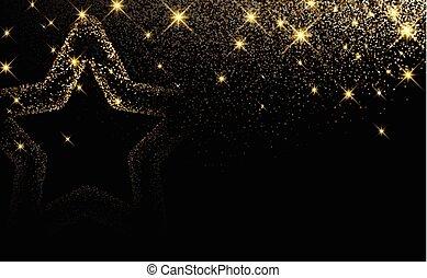 star., 黒, クリスマス, 背景