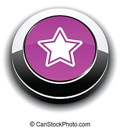 Star 3d round button.