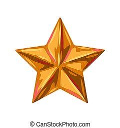 star., abbildung, gold