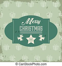 Star and bell icon. Merry Christmas design. Vector graphic
