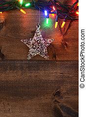 star and christmas lights