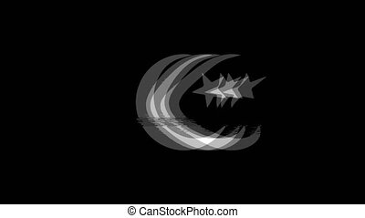 Star and Crescent symbol Islam religion icon Vintage...