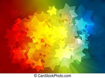 star and rainbow