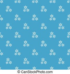 Star anise pattern seamless blue