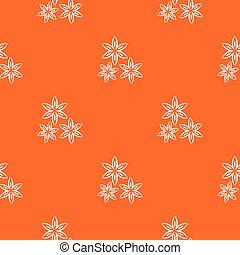 Star anise pattern seamless