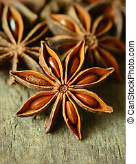 Star anise spice, shot with a macro lens