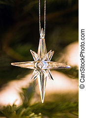 Star as decoration in christmastree