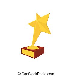 Star award cartoon icon