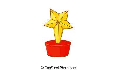 Star award icon animation
