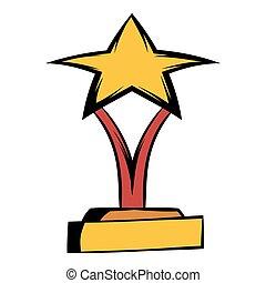 Star award icon cartoon