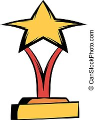 Star award icon cartoon