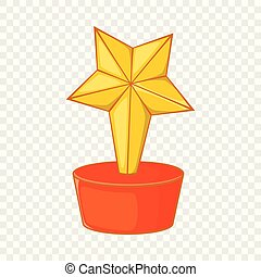Star award icon, cartoon style