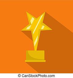 Star award icon flat